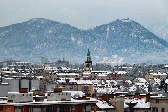 Lublaň v zimě