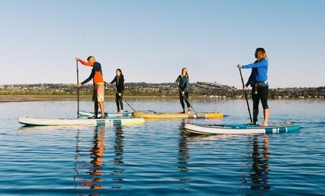 Trendy sport – paddleboarding